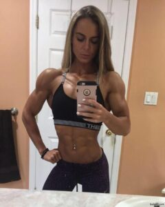 perfect woman with muscular body and muscle arms image from facebook