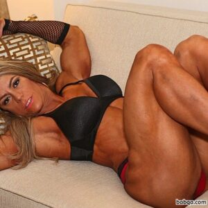 spicy female bodybuilder with fitness body and muscle legs image from g+