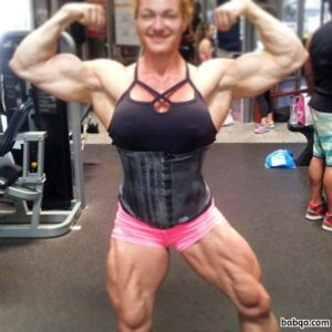 hottest lady with muscular body and toned legs post from flickr