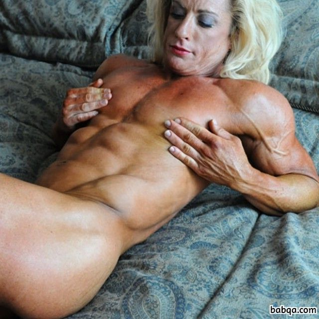 awesome female with muscle body and muscle bottom image from g+