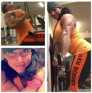 spicy female bodybuilder with fitness body and toned ass image from facebook