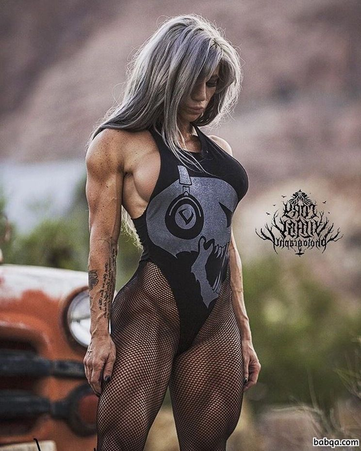 spicy female bodybuilder with fitness body and toned ass photo from instagram