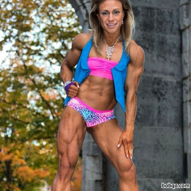awesome female bodybuilder with muscular body and muscle arms pic from reddit