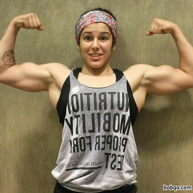 spicy woman with strong body and toned arms image from reddit