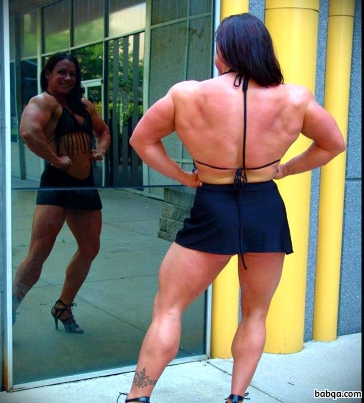 spicy woman with fitness body and muscle legs repost from tumblr