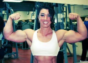 hot female bodybuilder with strong body and toned bottom picture from instagram