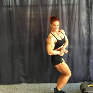 hot female bodybuilder with muscular body and muscle ass image from linkedin
