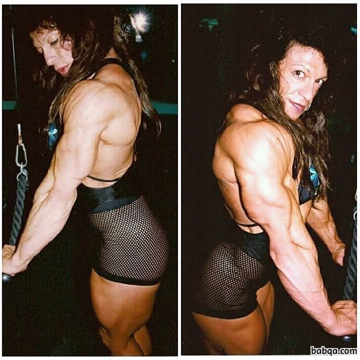 hot lady with muscle body and toned arms post from tumblr