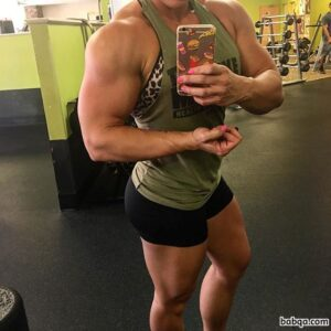 beautiful woman with fitness body and toned biceps repost from reddit
