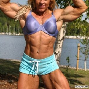 hot woman with fitness body and toned biceps pic from flickr
