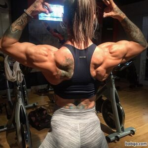 spicy female bodybuilder with fitness body and muscle biceps image from facebook