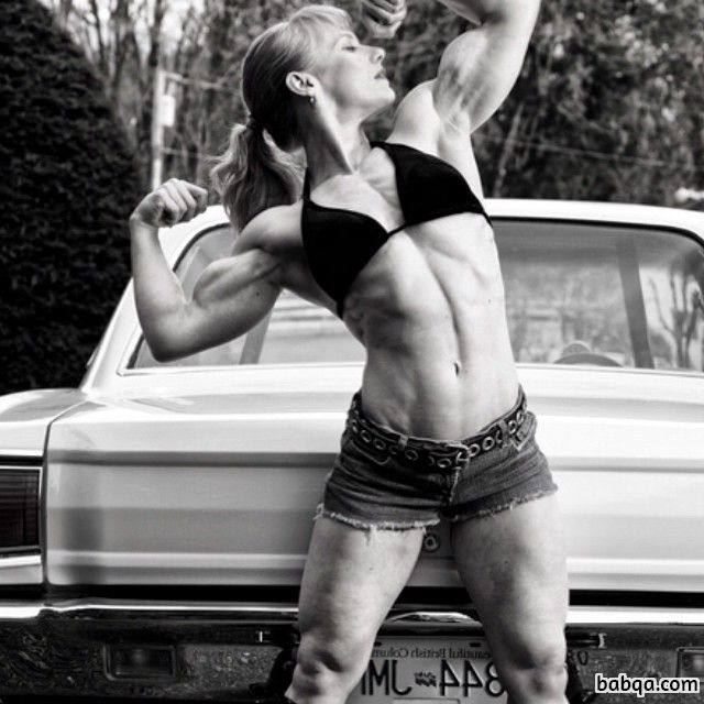 spicy woman with strong body and muscle bottom image from facebook