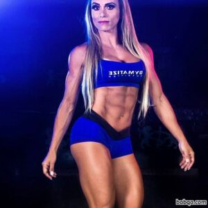 awesome female with muscle body and toned biceps post from g+