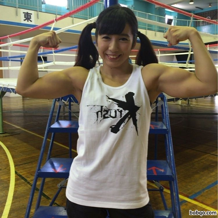 perfect girl with muscle body and toned arms repost from flickr