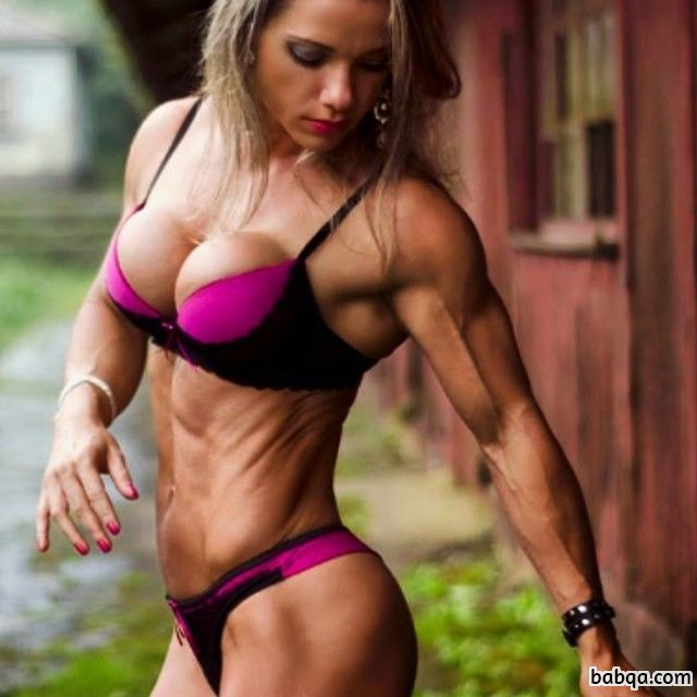 cute woman with muscle body and toned arms post from flickr