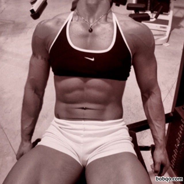 hottest female with strong body and muscle legs pic from flickr