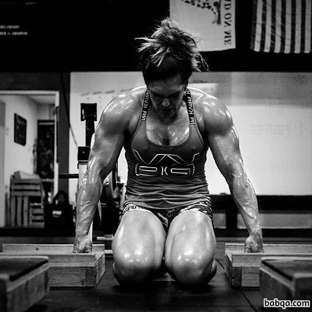 awesome woman with strong body and toned legs photo from instagram