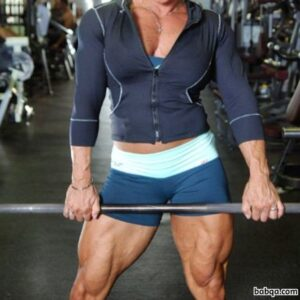 awesome female with fitness body and toned arms picture from tumblr
