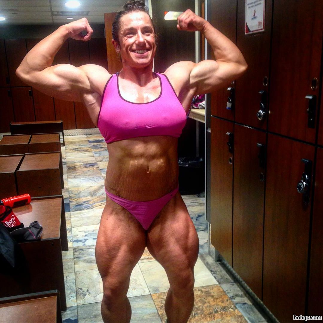 awesome lady with muscle body and toned arms image from flickr