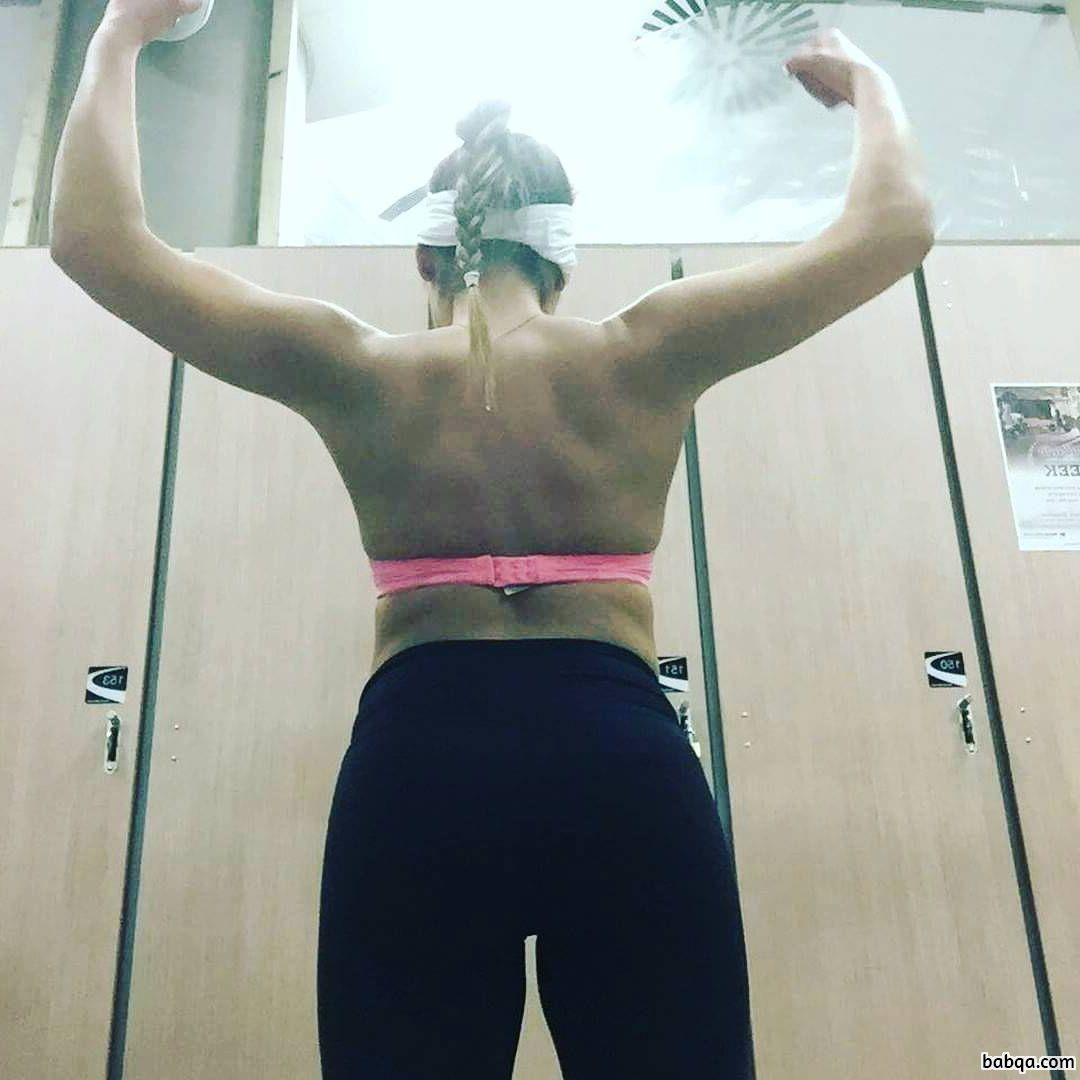 spicy babe with fitness body and toned biceps pic from linkedin