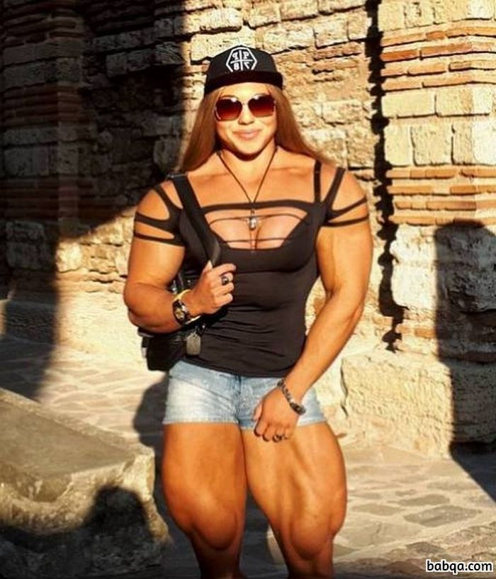 awesome lady with muscle body and muscle booty image from tumblr