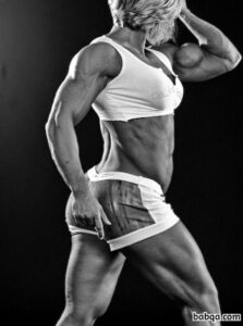 perfect babe with muscle body and muscle legs repost from insta