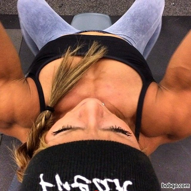 beautiful lady with muscle body and toned booty post from g+
