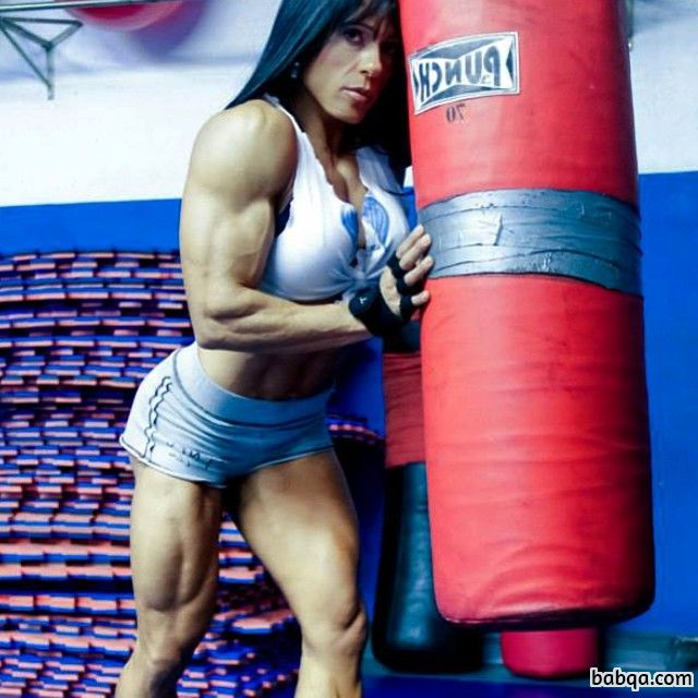 beautiful female with muscular body and muscle bottom post from linkedin