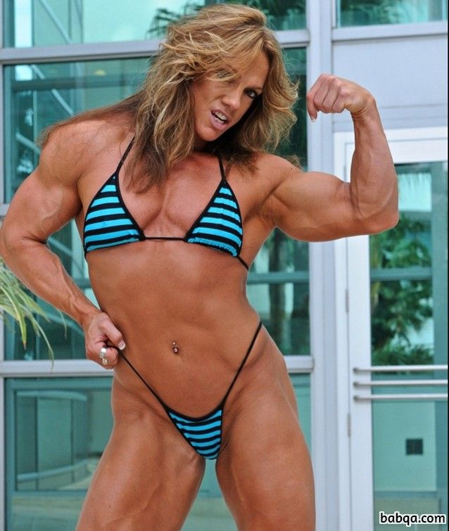 hottest female bodybuilder with strong body and toned ass picture from linkedin