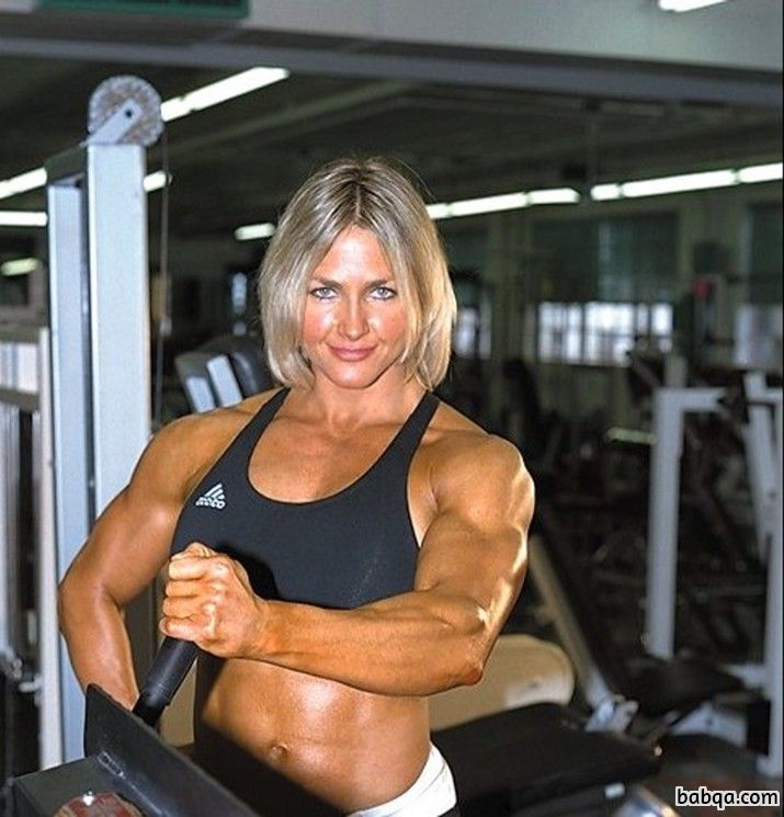 sexy lady with strong body and toned biceps post from reddit