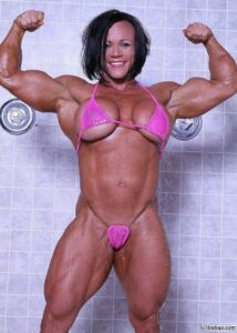 perfect lady with muscular body and muscle biceps repost from linkedin
