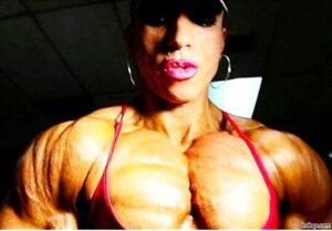 cute lady with muscle body and muscle ass repost from g+