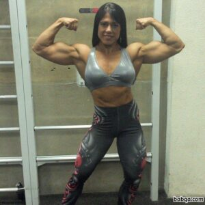beautiful female bodybuilder with muscle body and muscle booty repost from linkedin