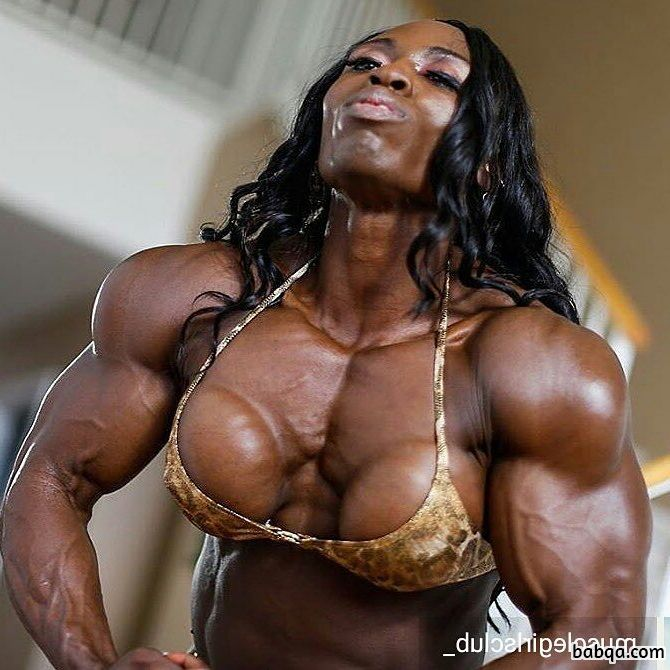 spicy lady with strong body and muscle bottom picture from facebook