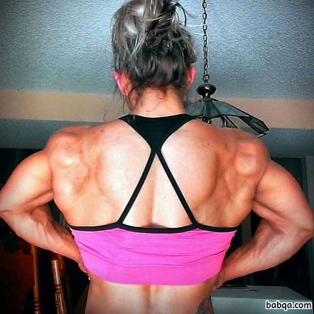 awesome woman with muscle body and toned booty pic from g+