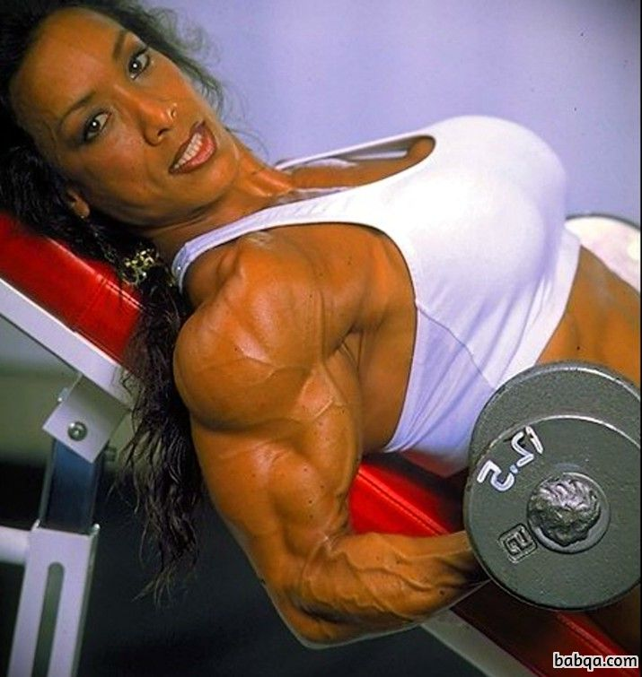 hottest woman with muscle body and toned biceps repost from instagram