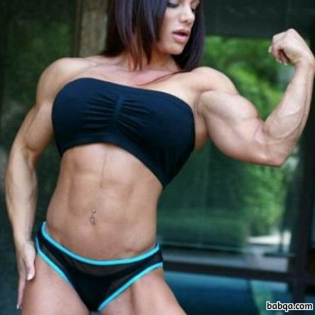 hot female bodybuilder with muscle body and toned legs repost from reddit