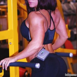 hot female bodybuilder with strong body and muscle ass pic from linkedin