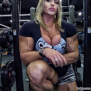 hot girl with muscle body and muscle biceps picture from facebook