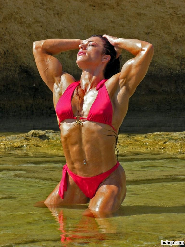 beautiful chick with muscle body and muscle arms repost from facebook