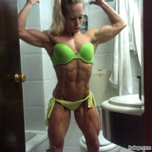 sexy female bodybuilder with fitness body and muscle ass photo from tumblr