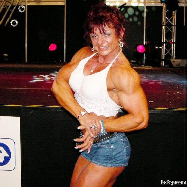 perfect woman with strong body and toned biceps picture from tumblr