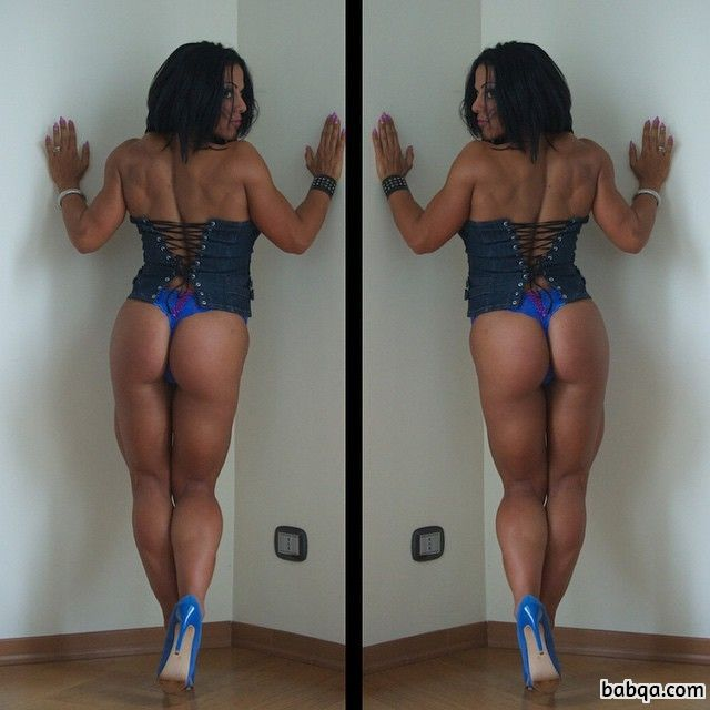 beautiful lady with muscle body and muscle ass pic from linkedin