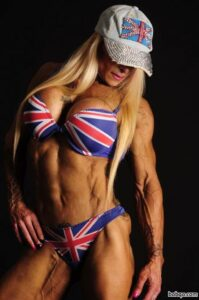 hot girl with muscle body and toned legs image from g+