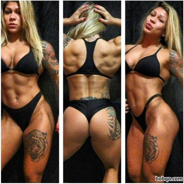 perfect girl with muscular body and muscle bottom pic from instagram