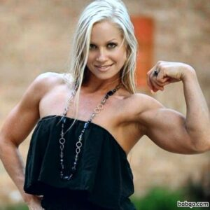 sexy female bodybuilder with strong body and muscle arms photo from flickr