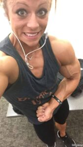 hottest lady with muscular body and toned bottom photo from facebook