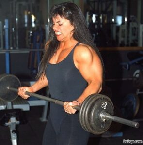 hottest female with muscular body and muscle biceps picture from facebook
