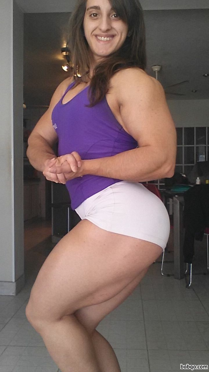 hottest lady with strong body and muscle ass pic from facebook