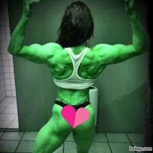 hot woman with muscle body and muscle bottom pic from g+